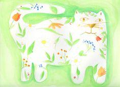Garden Kitty by Deborah Mores Art