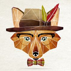 """""""Hipster Animals"""" – Geometric Illustrations Inspired by Tangram Puzzles"""