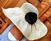 Floppy Summer Sun Hat Extra Wide Brim SunHat With Removable Flower Women's
