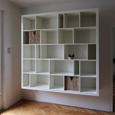 Wall-mounted Expedit bookcase.  Gorgeous.