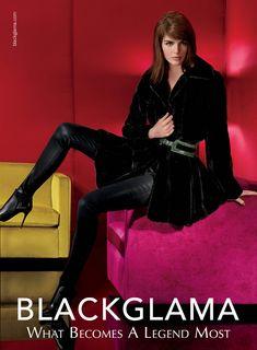 Hilary Rhoda for Blackglama Fall 2014 Campaign