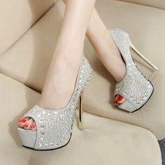 Designer Clothes, Shoes & Bags for Women Bridal Shoes Online, Best Bridal Shoes, Bridal Wedding Shoes, Shoes Uk, Stiletto Heels, Peep Toe, Footwear, Affordable Bridal, Platform