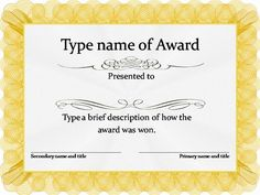 Blank award certificate template for word chose from several free gold award certificate template yelopaper Gallery