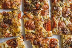 Pour-in-the-Pan Pizza with Tomatoes and Mozzarella from Christopher Kimball's Milk Street Food Dishes, Main Dishes, Pizza Recipes, Cooking Recipes, Lotsa Pasta, 12 Recipe, Bread And Pastries, New Cookbooks, Food 52
