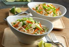 30 minutes is all it takes to make this incredibly tasty soup. Sautéed garlic, tender-crisp carrot strips and rice noodles are cooked in a ginger flavor infused broth and garnished with fresh cilantro, green onions and salted peanuts. It's a light and flavorful soup that's sure to impress.