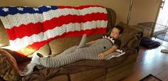 This Grandma Accidentally Made an Inappropriate Shark Blanket for Her Grandson  - CountryLiving.com