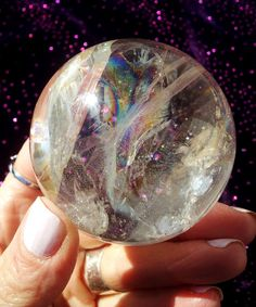 325 Clear Quartz Crystal Sphere With Brilliant by LunaBlueBoutique, $98.00