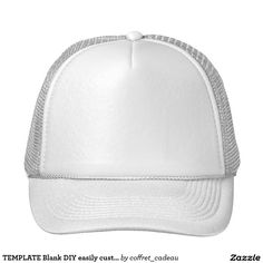 4e6b64546f2 TEMPLATE Blank DIY easily customize add TEXT PHOTO Trucker Hat Wholesale  Hats