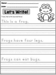 Spring Handwriting Practice (Sentences) spelling and handwriting Handwriting Practice Sentences, Kindergarten Handwriting, Spelling And Handwriting, Improve Your Handwriting, Improve Handwriting, Handwriting Analysis, Nice Handwriting, Handwriting Worksheets, Sentence Writing