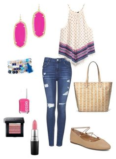 """Untitled #269"" by kmysoccer on Polyvore featuring Topshop, H&M, Stella & Dot, NAKAMOL, Lucky Brand, Bobbi Brown Cosmetics, MAC Cosmetics, Essie and Kendra Scott"