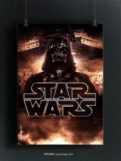 Star Wars Art, Starwars, Geek Stuff, Darth Vader, Movie Posters, Character, Design, Geek Things, Film Poster