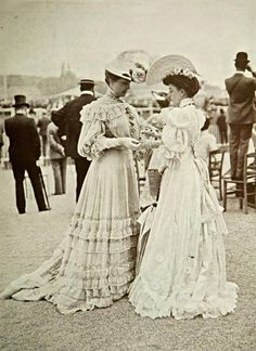 Fashion at the Races, 1904. Why can't we still dress like this??