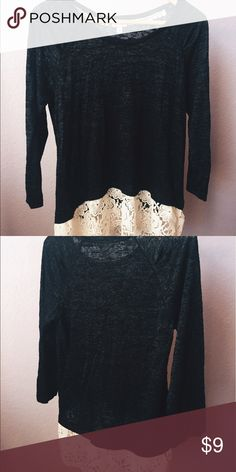 Mid sleeve soft shirt Super cute shirt with lace detailing on bottom. Has never been worn before! Urban Outfitters Tops Tees - Long Sleeve