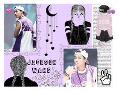 """""""Jackson Wang *-*"""" by alessapark ❤ liked on Polyvore featuring art"""