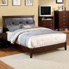 Magnifique Furniture - Enrico I Queen Bed Collection CM7068BRC-Q, $228.00 (http://www.magnifiquefurniture.com/enrico-i-queen-bed-collection-cm7068brc-q/)
