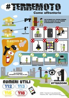 Ho trovato la mia strada: Infografica: Cosa fare in caso di #terremoto