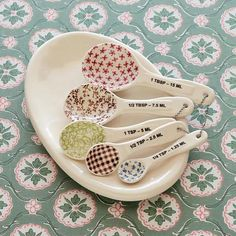 pretty measuring spoons just make me happy.... don't know why, but they do!