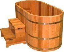 Ofuro Japanese soaking hot tub - 2 person wooden tub: