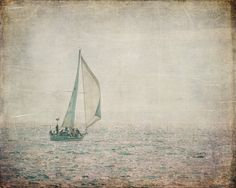 Sailing on Lake Michigan Fine Art Photography by KEnzPhotography, #chaoscurators, #etsyfind, #KEnzPhotography