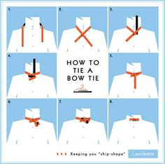 Make sure anyone in your wedding wearing a bowtie actually knows how to tie one. | These Diagrams Are Everything You Need To Plan Your Wedding
