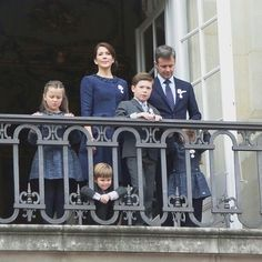 Kronprinse paret og deres skønne børn