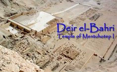 Page 1 - Deir el-Bahri is a deep embayment in the cliffs on the west bank at Thebes, a natural amphitheatre almost directly along the main axis of the Karnak Temple.  The great pyramidal mountain peak known as al-Qurn ('the horn') towers above it and adds to an already dramatic setting.  The area was traditionally connected with the local cult of Hathor, associating the king with that most-important Mother-Goddess ('Het-Heru'). It became an important focus of religious…