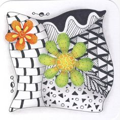 My first Zentangle. This is the start of many more. #zentangle #art