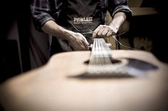 Vince Pawless of Pawless Guitars, Gainesville TX (Portrait of an American Craftsman by Tadd Myers) American Craftsman, Playing Cards, Projects, Acoustic Guitar, Guitars, Portrait, Random, Log Projects, Blue Prints