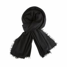 Balmuir - Helsinki scarf, 100% cashmere, black