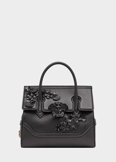 bca4e26e55 Versace Flower Appliques Palazzo Empire Bag for Women