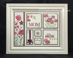 All About Mom Class by Kirsteen Gill (TX Scotland! 3d Paper Crafts, Paper Art, Paper Collages, Box Frame Art, Box Frames, Collage Frames, Marianne Design, Frame Crafts, Mothers Day Cards