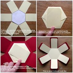 Today I am going to share a tutorial for my Hexagonal exploding box. Today I am going to share a tutorial for my Hexagonal exploding box. I originally desi - Exploding Box Template, Exploding Gift Box, Exploding Box For Boyfriend, Box Cards Tutorial, Card Tutorials, Explosion Box Tutorial, Hexagon Box, Magic Box, Pop Up Cards