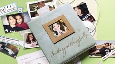 Scrapbook Idea: College Memories | Try this easy scrapbook idea to chronicle first-year college highlights and turn messages from your college student into lasting memories. #Hallmark #HallmarkIdeas