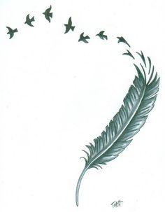 Feather Tattoo Design by ARTBYTOAST on Etsy