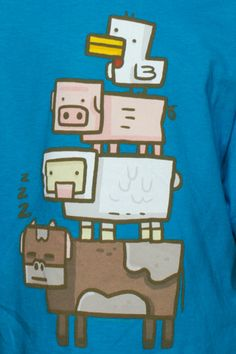 J!NX : Minecraft Animal Totem Youth Tee