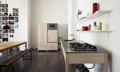 Simplicity Kitchen Designs: Simplicity Kitchen Designs With Wooden Cabinet And Wooden Chair