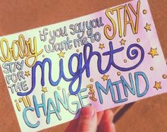 Change My Mind- One Direction
