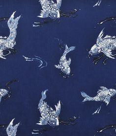 Love this fabric but not at this price! Ralph Lauren Koi Indigo Fabric - $136.24 onlinefabricstore.net