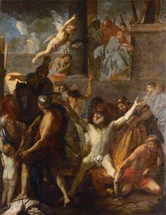 Martyre de saint André / Martirio de San Andrés/ Martyrdom of Saint Andrew // 1647 // Charles Le Brun // Cathédrale Notre-Dame de Paris #StAndrew