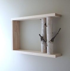 35 ideas for Birkenstamm decoration - bring nature into your home - house decoration more - Basteln mit Holz - # Tree Branch Crafts, Branch Decor, Tree Branches, Wall Decor, Tree Branch Art, Birch Trees, Decorating Blogs, Decorating Your Home, Diy Home Decor