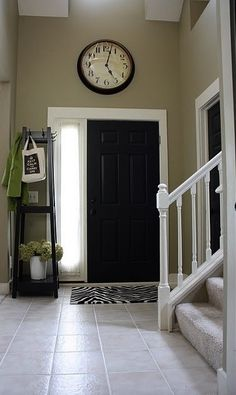 Black interior front door