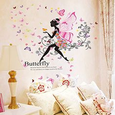 Brooke  Celine Home Decoration Wall Stickers Butterfly Spirit Home Decor Removable Wallpapers for Kids Rooms *** Details can be found by clicking on the image.