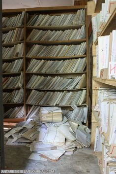 Abandoned Mental Asylum 19 - All of those records with confidential info left behind for anyone to read. I want to see this with my own eyes Mental Asylum, Insane Asylum, Abandoned Asylums, Abandoned Places, Old Buildings, Abandoned Buildings, Asile, Abandoned Hospital, Mysterious Places