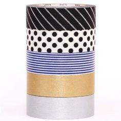 monotone mt Washi Masking Tape Klebeband 5er Set Box - 11,99 EURO
