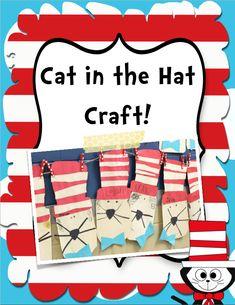 Read Across America and Dr Seuss {FREEBIES} Kindergarten Art Projects, Kindergarten Writing, Kindergarten Activities, Classroom Activities, Literacy, Preschool, First Grade Crafts, First Grade Activities, Dr Seuss Activities