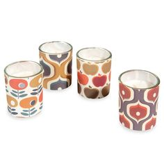 SEVENTIES 4 glass candles