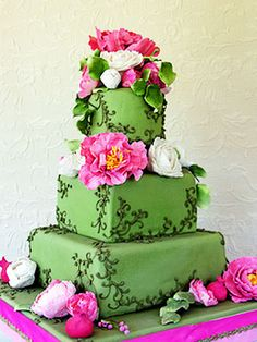 Sedona Cake Couture Pink and green