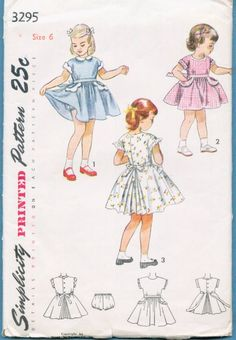 afa3c850a25a5 Vintage Sewing Pattern - Girls Childs Childrens Dress Flared Skirt - Sz 6  1950 s.  7.00