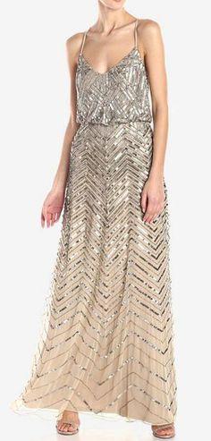 Adrianna Papell Women's Blouson Long Dress