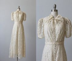 Wedding Dress / Lace Wedding Dress / Wedding Dress / Ophelia Wedding Dress / Lace Wedding Dress / by TheVintageMistress Eyelet Dress, Lace Dress, White Dress, 30s Dress, 1930s Wedding, Wedding Gowns, Lace Wedding, Vintage Gowns, Vintage Outfits